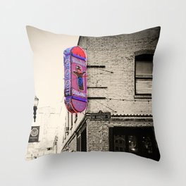 Voodoo Doughnut, Portland, Oregon Throw Pillow