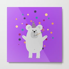 Party Polar Metal Print