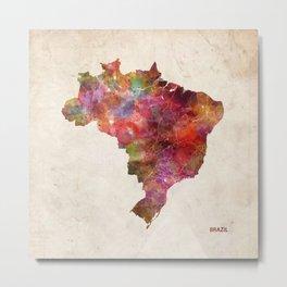 Brazil map Metal Print