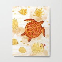 Hawksbill Sea Turtles Metal Print
