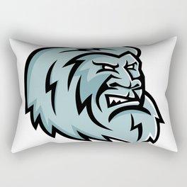 Yeti Head Mascot Rectangular Pillow