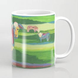 Psychedelic Cow Coffee Mug
