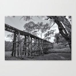 Mollisons Creek Trestle Bridge Canvas Print