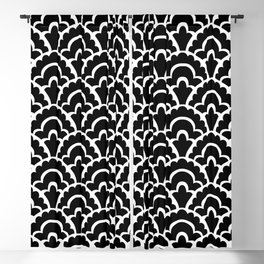 Fan Pattern Black and White 116 Blackout Curtain