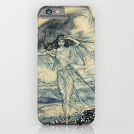 """Isis Rainbow Goddess"" by Arthur Rackham iPhone Case"