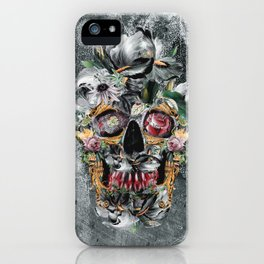 Skull on old grunge III iPhone Case