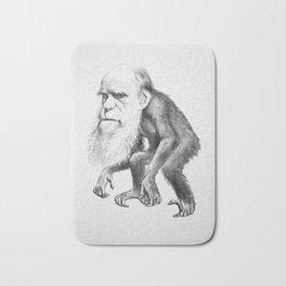 Charles Darwin as an Ape, caricature 1871 Bath Mat