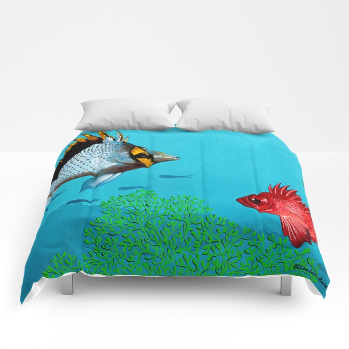 Butterfly & Bigeye fishes Comforters