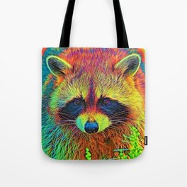 AnimalColor_Racoon_002 Tote Bag