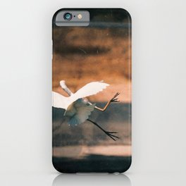 Clumsy Great Egret iPhone Case