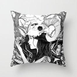 Nature goddess original Throw Pillow