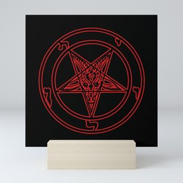 Das Siegel des Baphomet (rot) - The Sigil of Baphomet (red) Mini Art Print