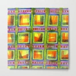 Light behind colorful geometric Windows Metal Print