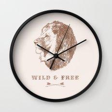 WILD & FREE Wall Clock