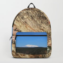 Yellow Rocks Of Yellowstone River Valley Backpack