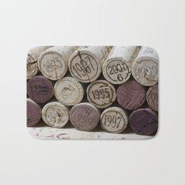Vintage Wine Corks Bath Mat