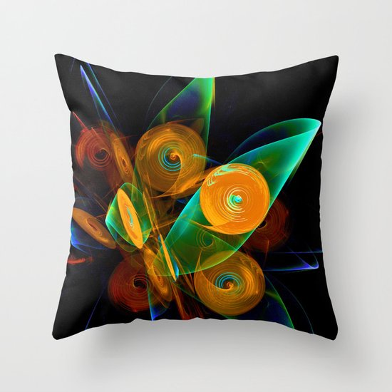 Rotating by Wind Throw Pillow