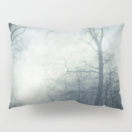 Dark Path - Misty Forest in November Pillow Sham