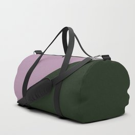 Faded purple & Army Green - oblique Duffle Bag