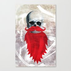 Beard Skull Canvas Print