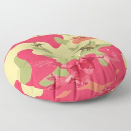 Charming Camo: Hummingbird Camouflage Floor Pillow