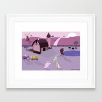 farm Framed Art Prints featuring Farm by Andrew Formosa