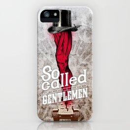 gentlemen iPhone Case