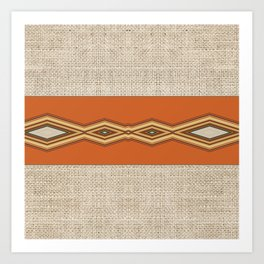 Southwestern Earth Tone Texture Design Art Print
