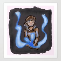 Blue Flames Art Print