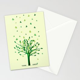 Think green! Stationery Cards
