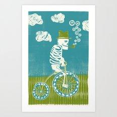 Se muere por las bicicletas Art Print