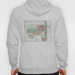 Vintage Map of Cape Town South Africa (1750) Hoody