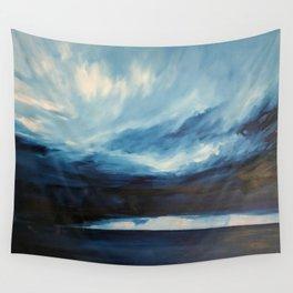 Rain at Sea Wall Tapestry