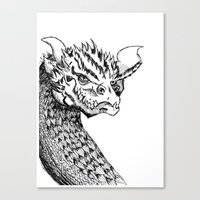 smaug Canvas Prints featuring Smaug by LegendOfZeldy