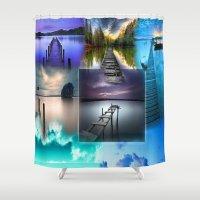 bridge Shower Curtains featuring Bridge by Dorina Ohme