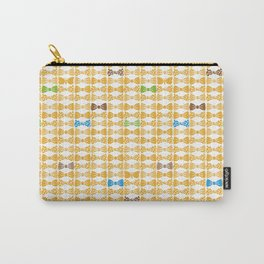 butterfly tie +yellow Carry-All Pouch