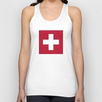 switzerland Tank Tops featuring Switzerland Flag  by Laura Ruth