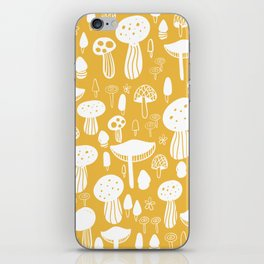 Forest Mushrooms Yellow iPhone Skin