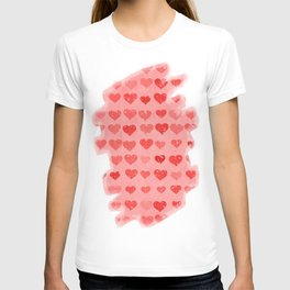 Pink Valentines Love Hearts T-shirt