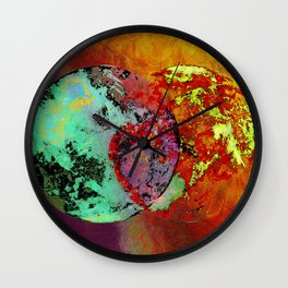 old map of a foreign world far away Wall Clock