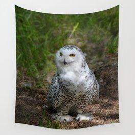 Alaskan Snowy Owl - Summer Wall Tapestry