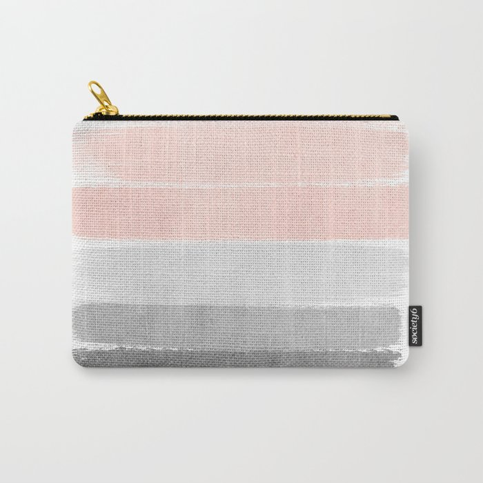 Color Story Millennial Pink And Grey Transition Brushstrokes Modern