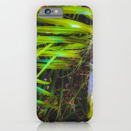 closeup green leaves plant texture abstract background iPhone Case