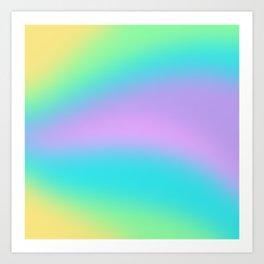 Aesthetic Rainbow Gradient Swish Art Print