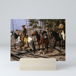 "Frederic Remington Western Art ""Prospecting for Cattle Range"" Mini Art Print"