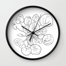 PLANT PORTRAITS - CHINESE MONEY PLANT PILEA PEPEROMIOIDES - COOPER  AND COLLEEN Wall Clock