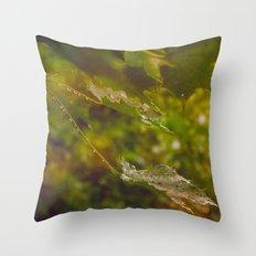 Rainy autumn leaves Throw Pillow