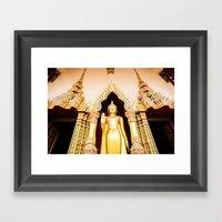 Buddha Temple Framed Art Print