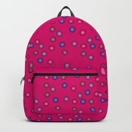 Girly Block Circles in Pink and Purple Backpack