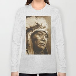 Chief Running Antelope - Native American Sioux Leader Long Sleeve T-shirt